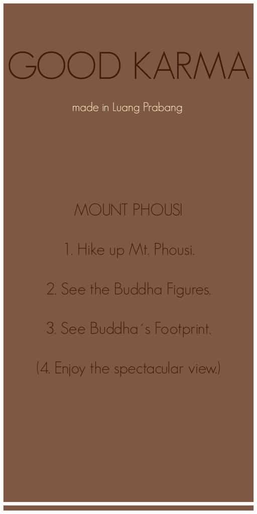Good Karma Mount Phousi Luang Prabang