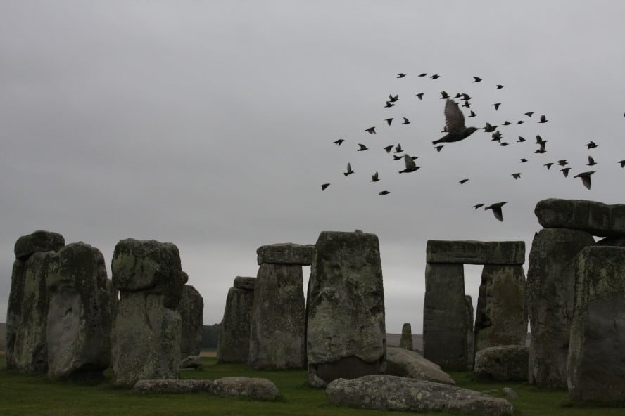 A Day At Stonehenge, England