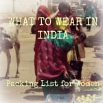 Packing List India Woman