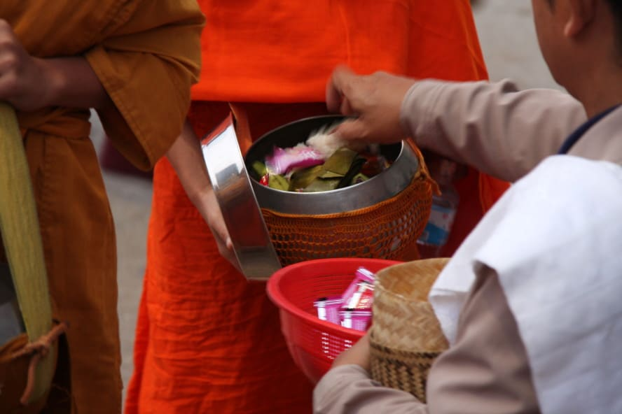 Morning Ceremony: Feeding the Monks in Luang Prabang