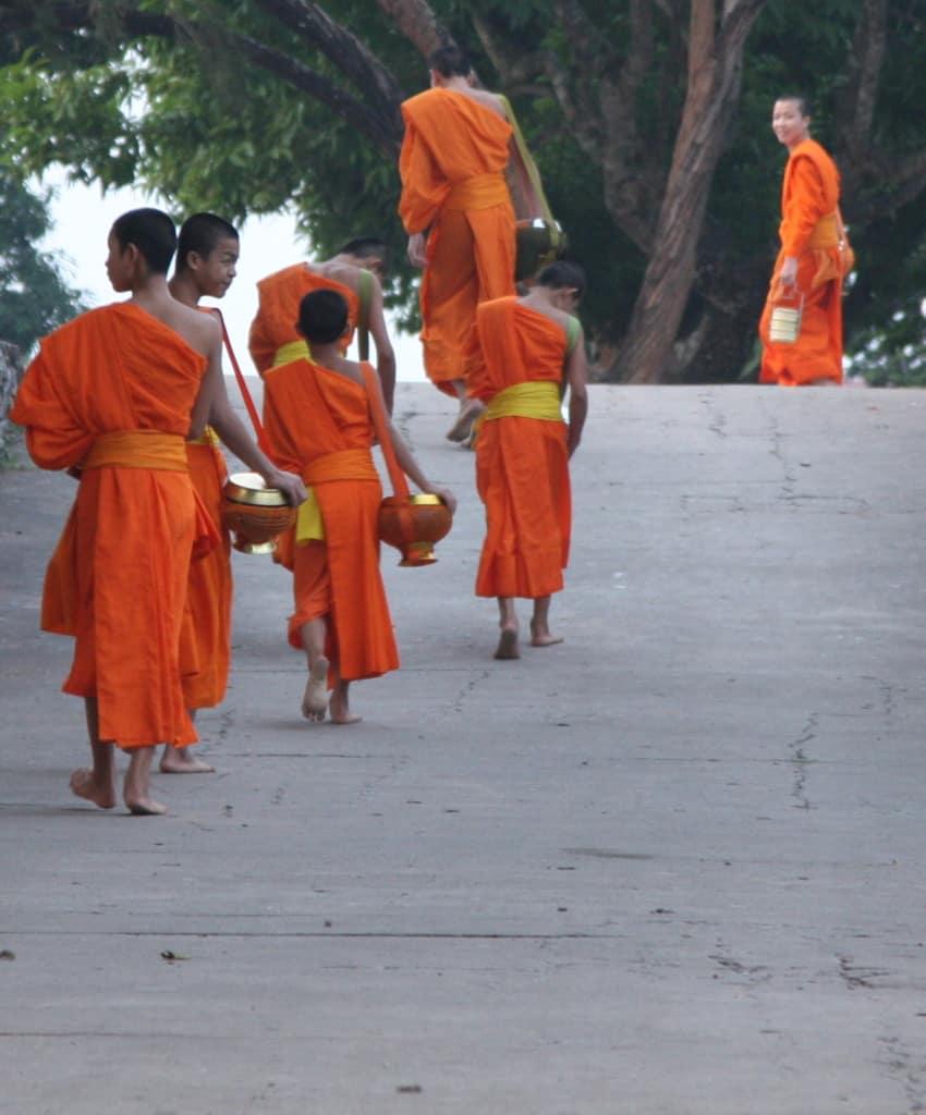 Mönche in Luang Prabang, Laos