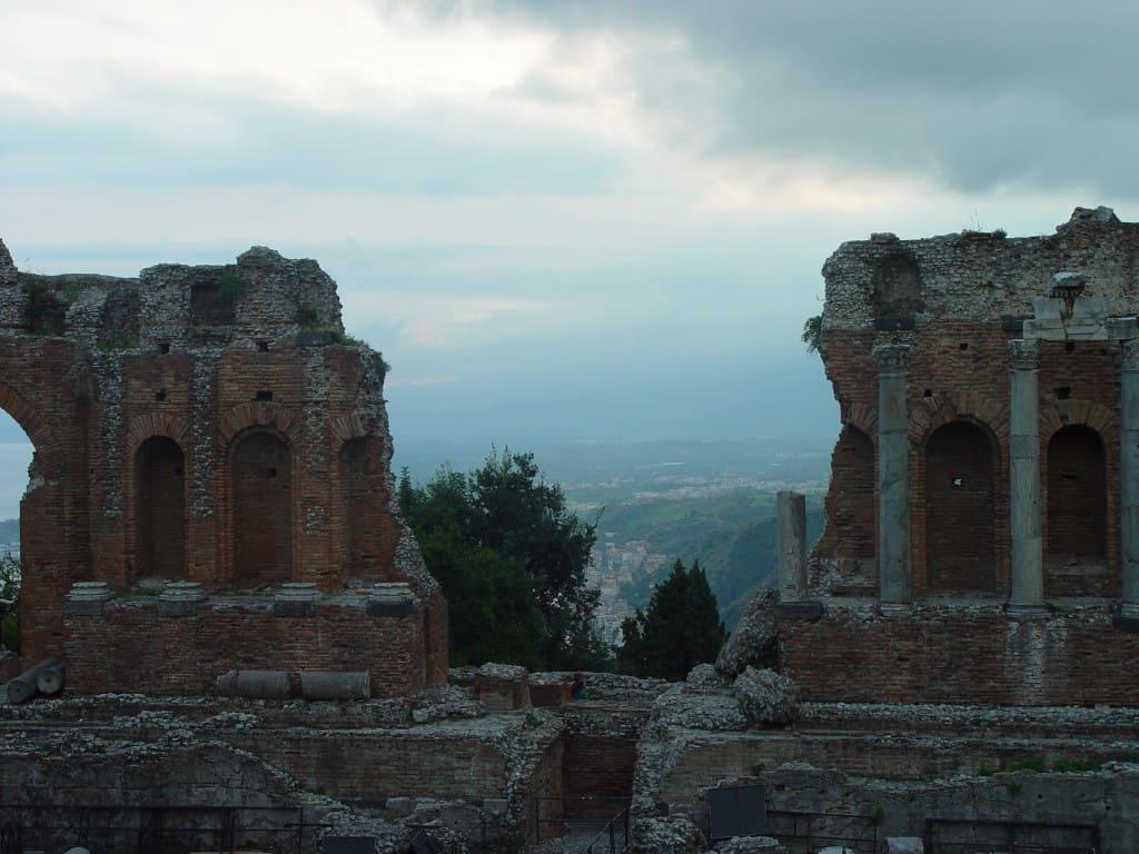 Amphitheater Taormina, Sizilien