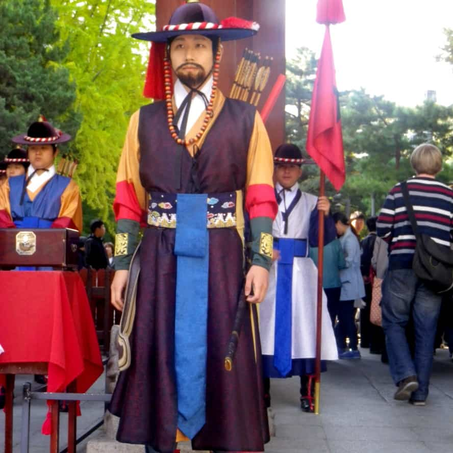 Changing of the Guard Seoul South Korea