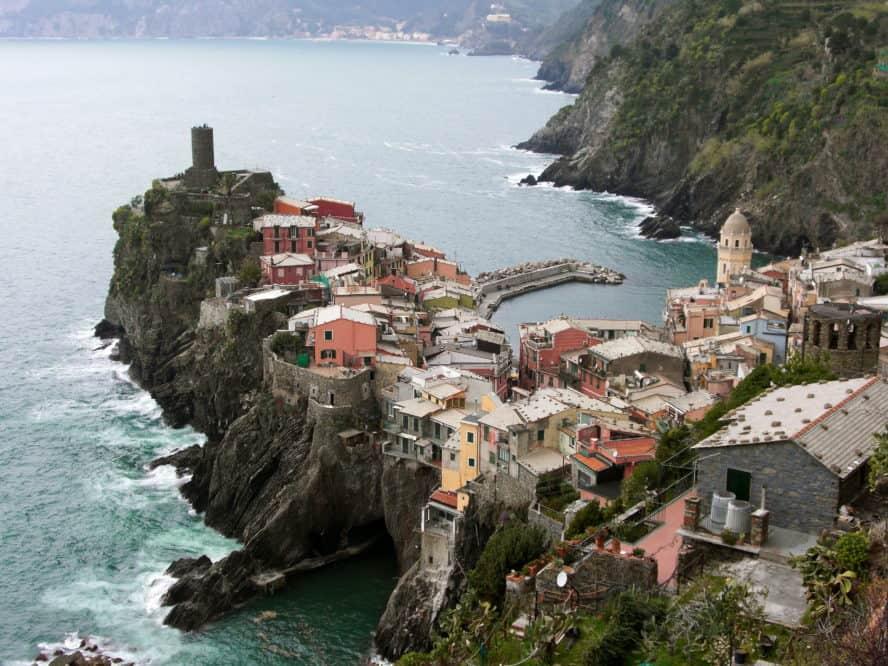 Vernazza Cinque Terre Italien Amalfiküste wandern