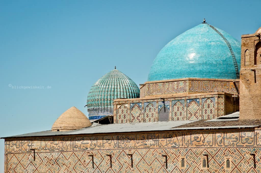 Khoja Ahmed Yasawi Mausoleum in Kazakhstan Credit: Inka from Blickgewinkelt