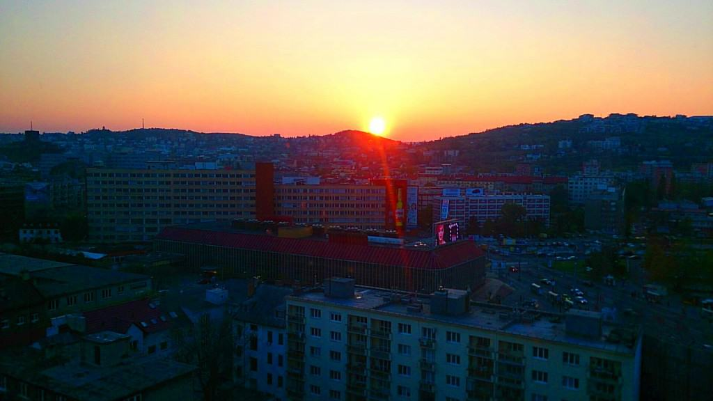 Sunset from my room in Bratislava