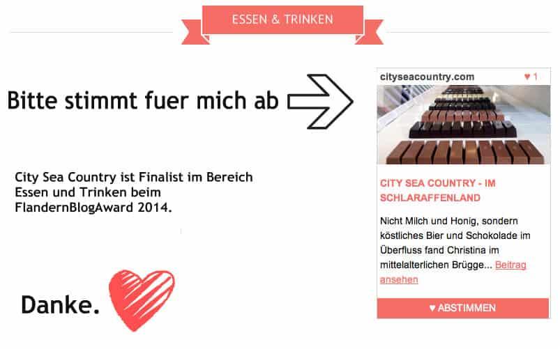 Flandern Blog Award 2014 Finalist