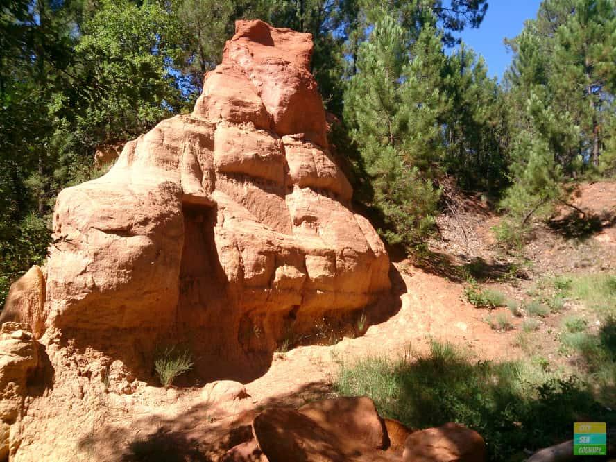 Ocker in Roussillon, Provence