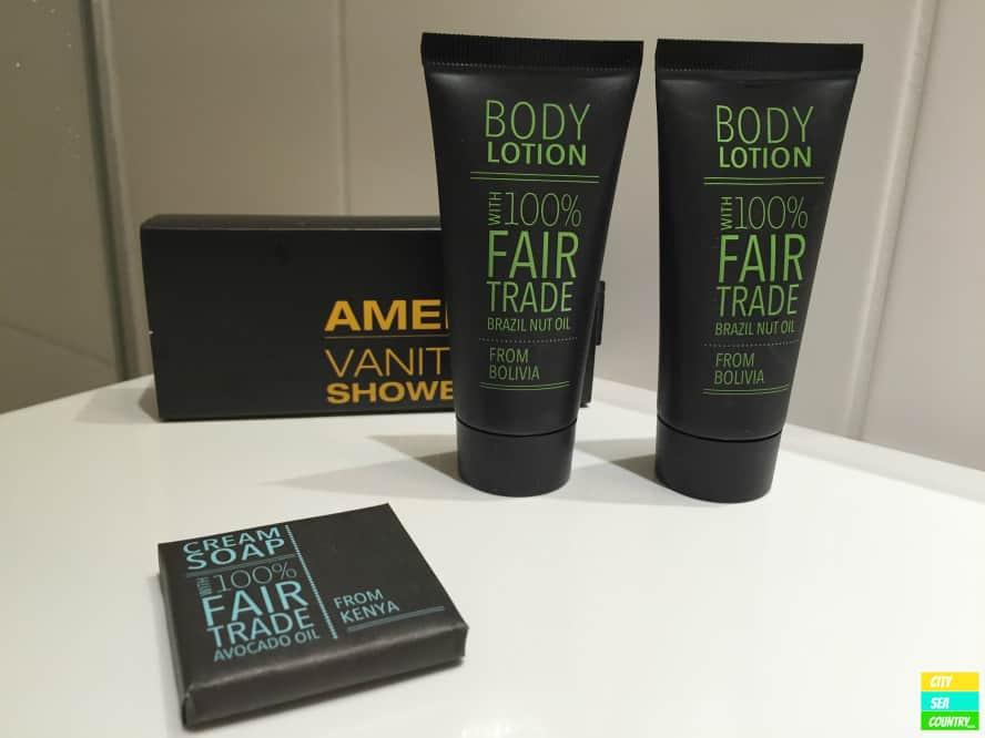 Fairtrade-Produkte im Badezimmer