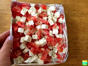 Grilled Feta and Tomato