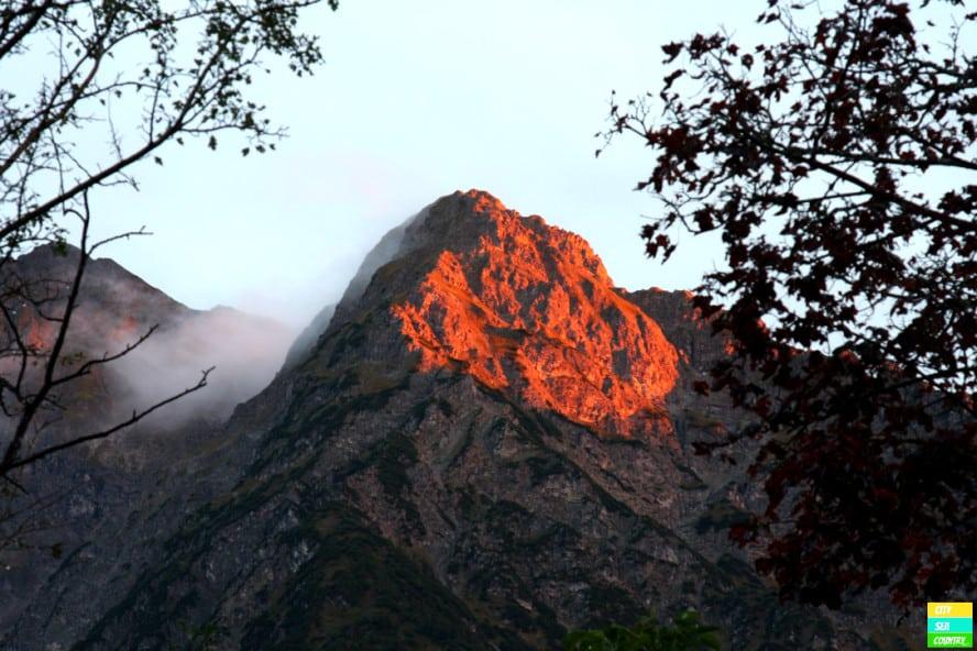 Mountains at the Kleinwalsertal