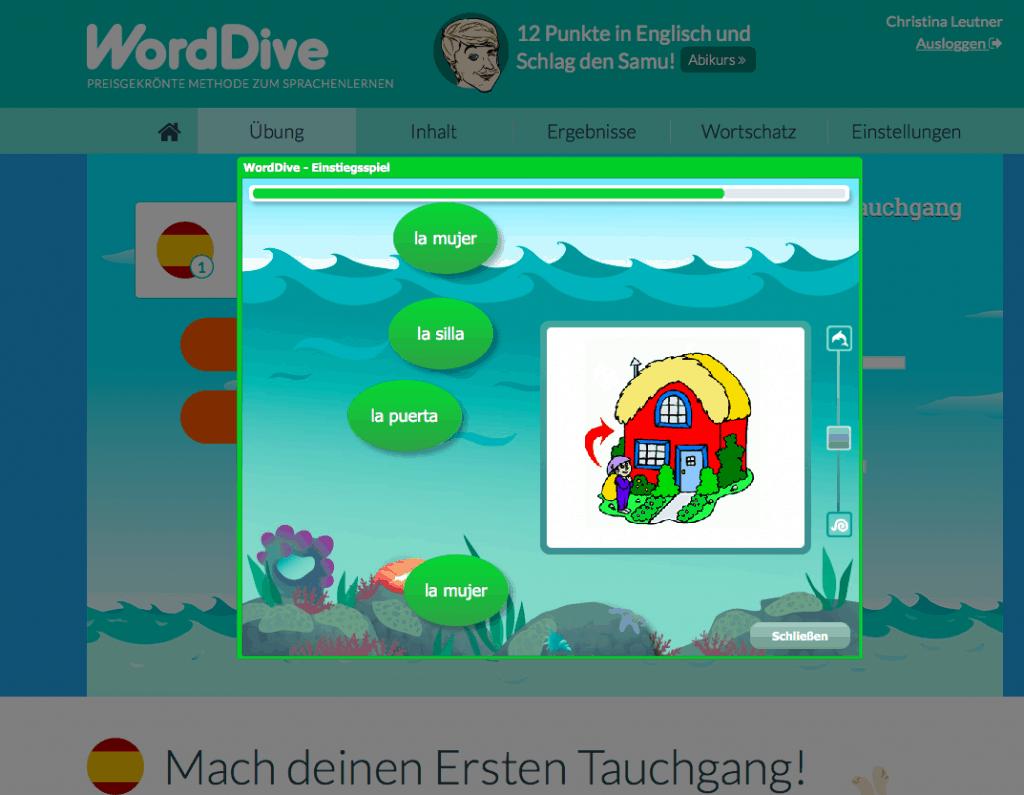 Sprachen lernen mit Worddive - Review