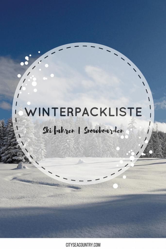 packliste ski fahren