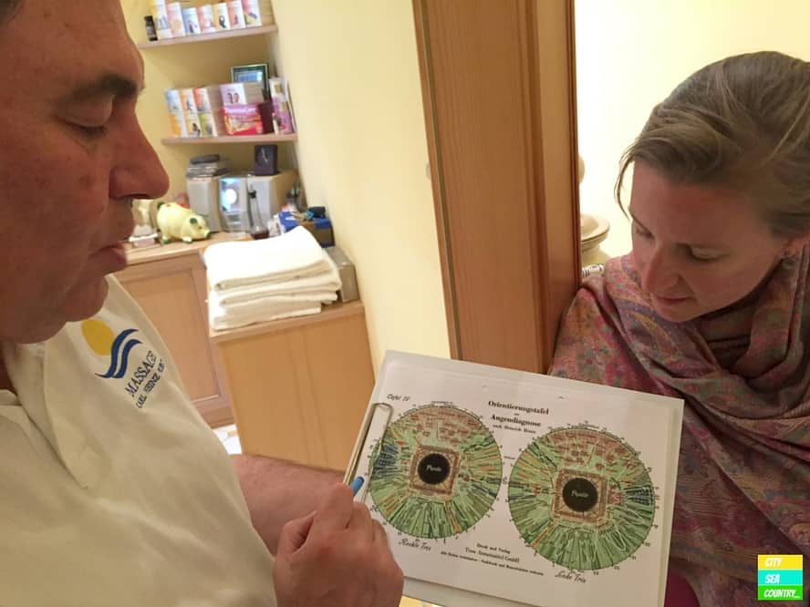 Meeting Karl-Heinz Probst. We were fascinated the most about the iridology.