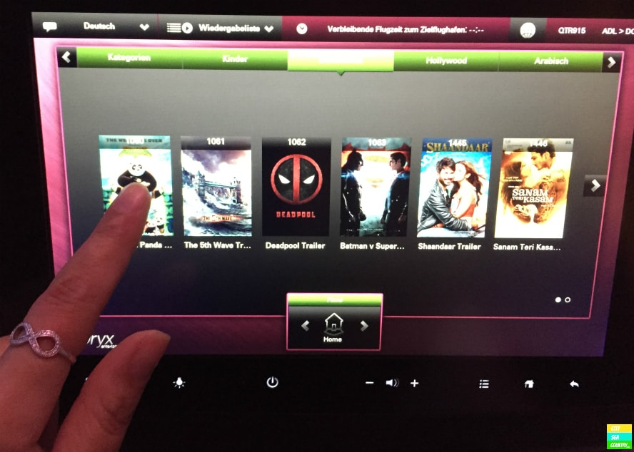 Qatar Airways InFlight System