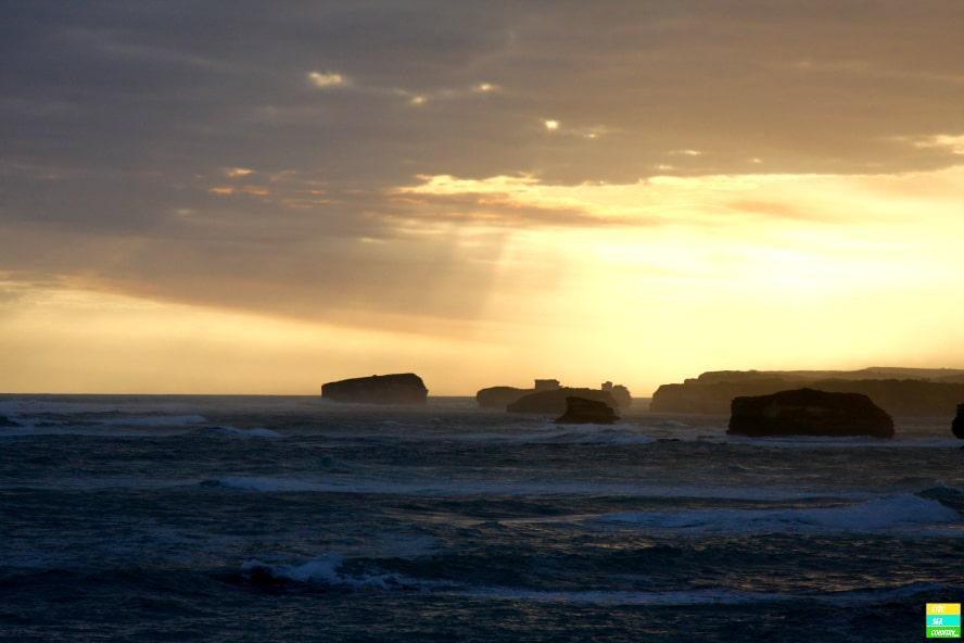 Sonnenuntergang entlang der Great Ocean Road - unbezahlbar