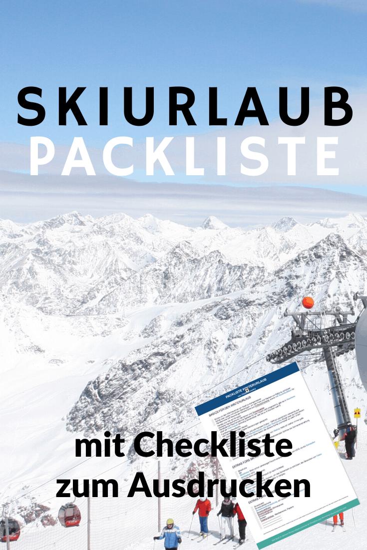 Packliste Skiurlaub: Packen für einen Winterurlaub in den Alpen