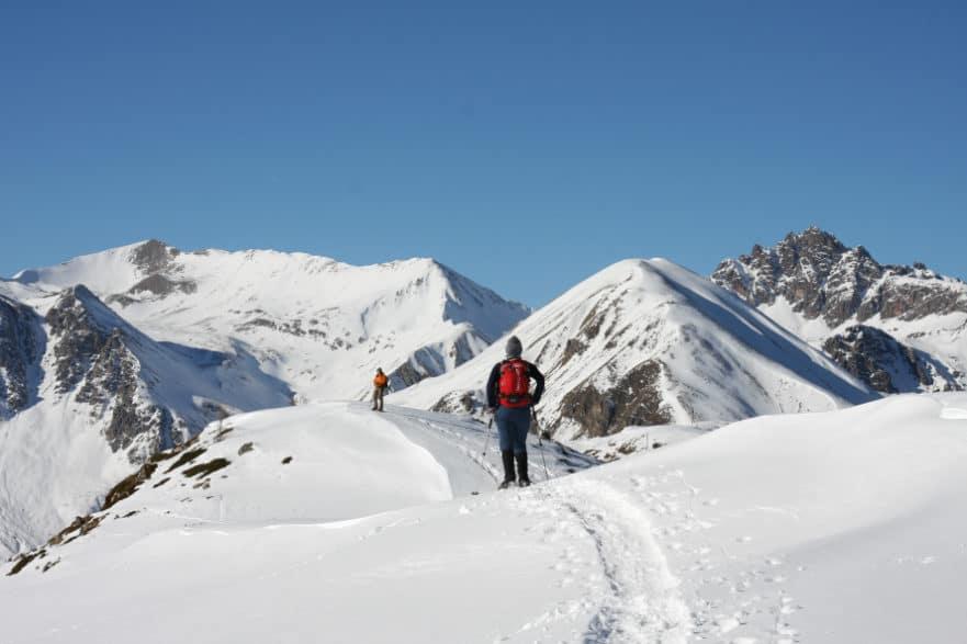 Livigno Italien Wintersport Schneeschuh wandern