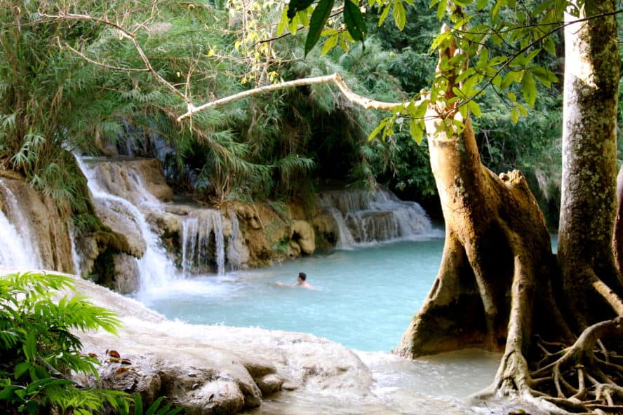 Kouang Si Wasserfalls Laos best sights