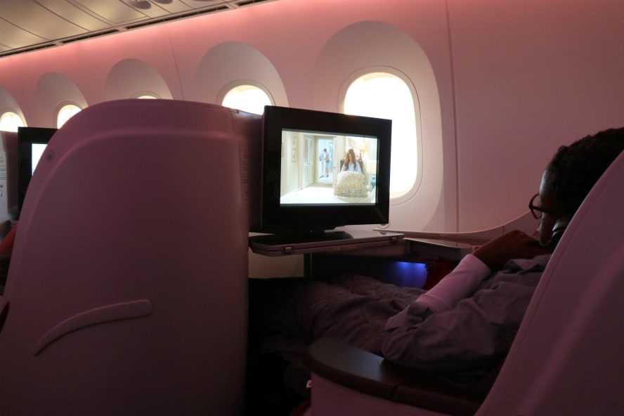 Business Class Qatar Airways von Wien nach Doha