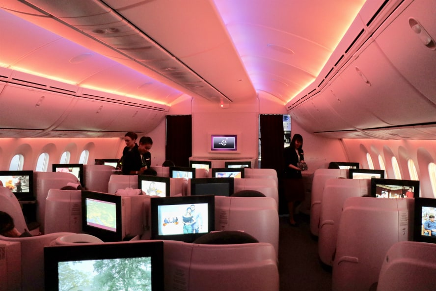Business Class Qatar Airways Test