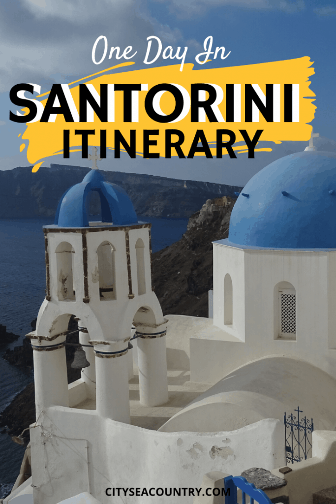One Day In Santorini Itinerary