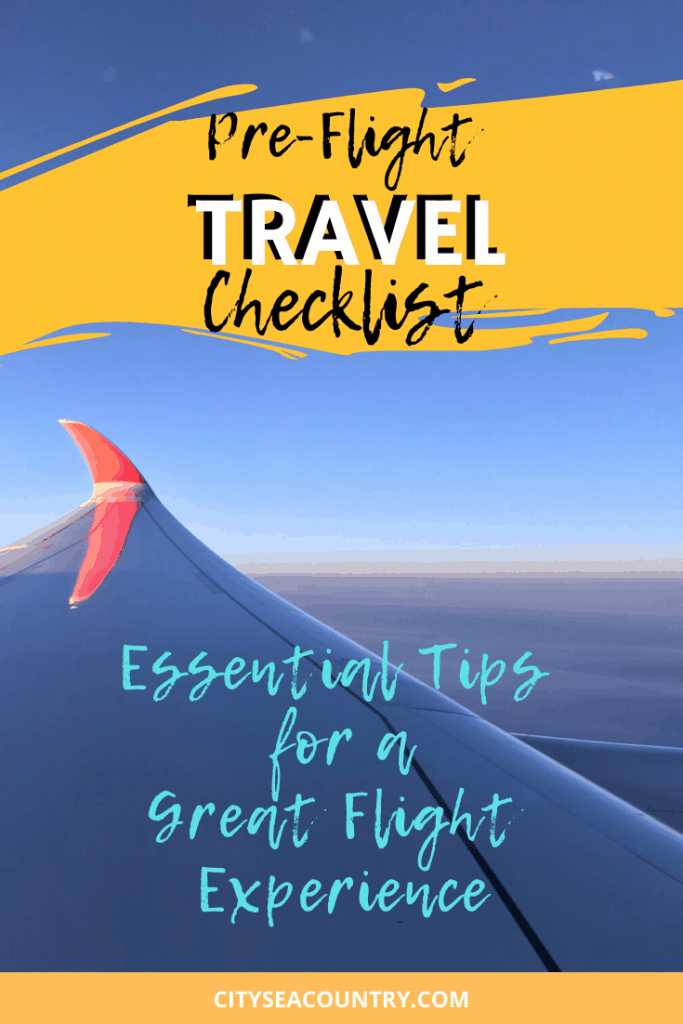 Pre-Flight Travel Checklist: 16 Essential Tips for a Great Flight Experience